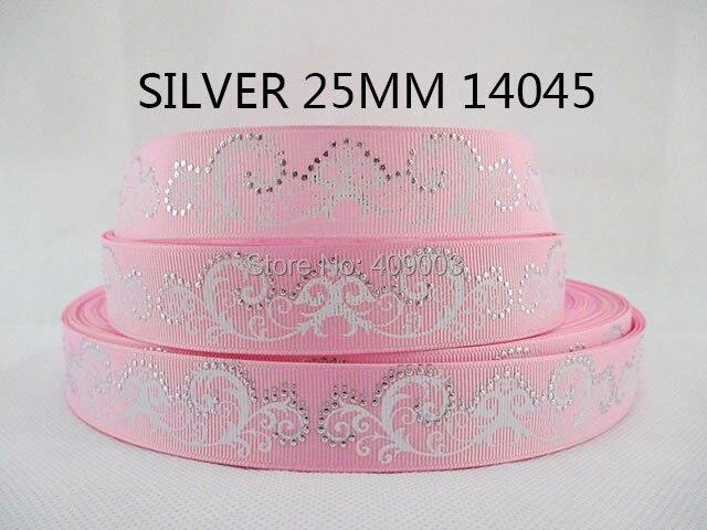 50Y14045 kerryribbon DIY 1 серебро печатных Grosgrain ленты DIY головные уборы лента и лук Одежда Аксессуары ...