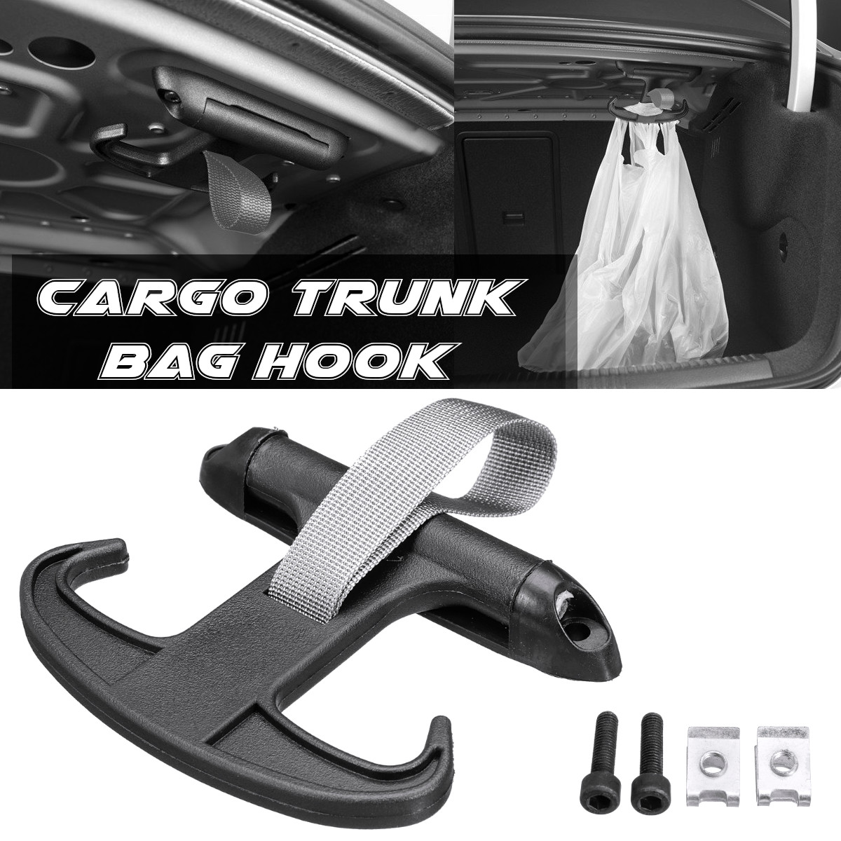 High Quality Black Car Cargo Trunk Bag Hook Holder Hanger For VW Passat B6 CC  for Volkswagen Jetta MK5-in Auto Fastener & Clip from Automobiles & Motorcycles