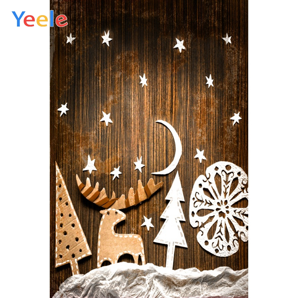 Yeele Christmas Photocall Decor Pine Wood Elk Star Photography Backdrops Personalized Photographic Backgrounds For Photo Studio in Background from Consumer Electronics
