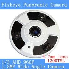 1.3MP 1280*960 360degree Wide Angle Fisheye Panoramic Camera NVP2431H AR0130 CCTV AHD Infrared dome Surveillance Security Camera