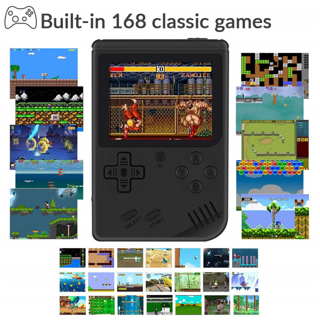 "RetroMini 3.0"" Display - Pocket Console with 168 Games 2"