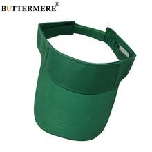 BUTTERMERE Green Visor Hat Women Casual Solid Baseball Cap Men Summer UV Protection Sunshade Snapback Caps Outdoor Golf Dad Hats цена в Москве и Питере