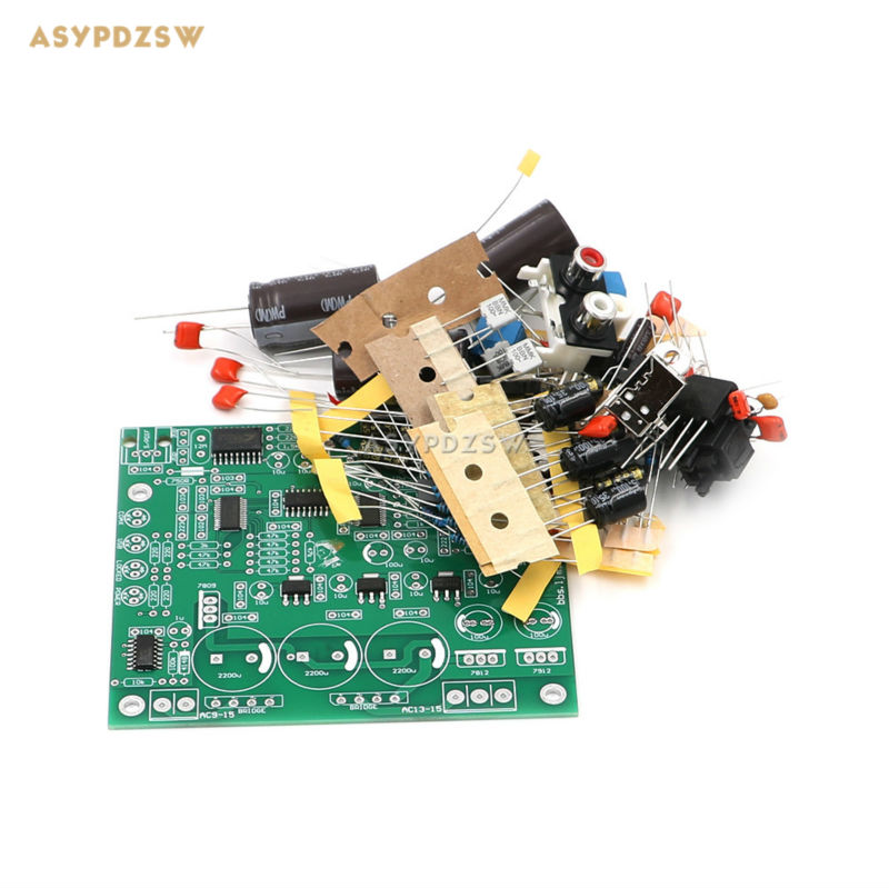 New CS4398 DAC DIY Kit With USB Optical Fiber 24/192K Decoder Kit AC15V 32K-192K/24BIT