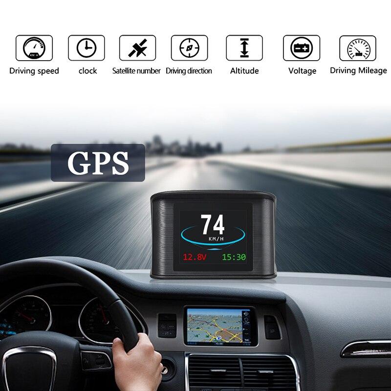 T600 Car GPS HUD Head Up Display Smart Digital Meter GPS Speedometer Car HUD Display GPS Satellites Speed - Work for All Cars