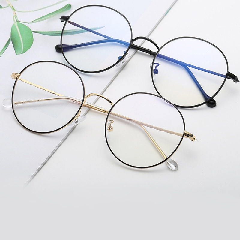 100% Waar Eenvoudige Stijl Recept Bril Vrouwen Mannen Mode Brillen Metalen Ronde Bijziendheid Computer Optische Bril Leesbril Catalogi Worden Op Verzoek Verzonden