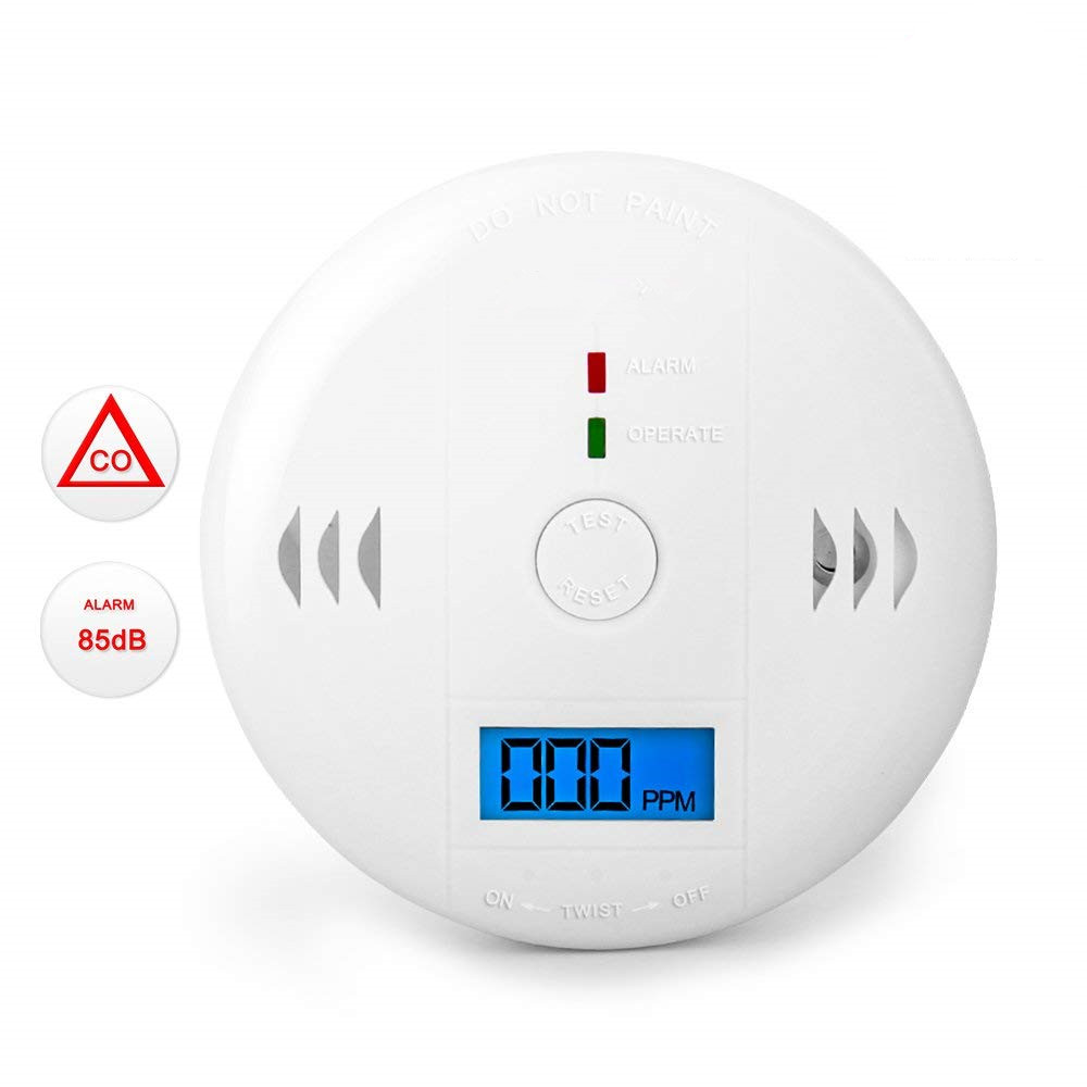 20pcs//lot dhl free Carbon Monoxide CO Gas Sensor Alarm Detector LCD Display