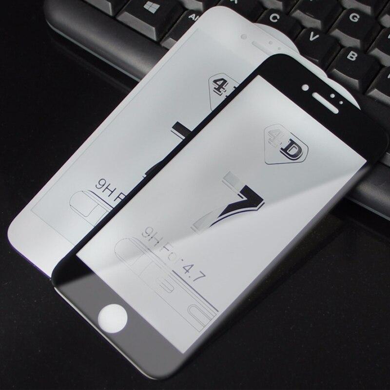 För iPhone 7 6 6s skärmskydd Härdat glas Hel täckning 3D böjd - Reservdelar och tillbehör för mobiltelefoner - Foto 5