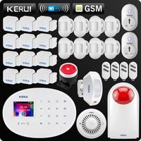 KERUI W20 новая модель Беспроводной 2,4 дюймов Touch Панель Wi Fi GSM охранной сигнализации Системы приложение мини ПИР Шторы Smart разъем Siren
