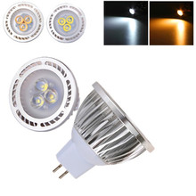 LED Light Bulb 270~320LM MR16 3W 3x 3030SMD Lamp AC / DC 12V Warm White / White Light