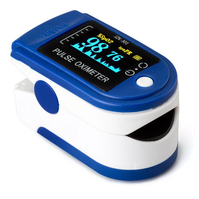 2016 high quality newest Fingertip Pulse Oximeter SPO2 Pulse Rate Monitor oxygen alarm sound Display Different Directions