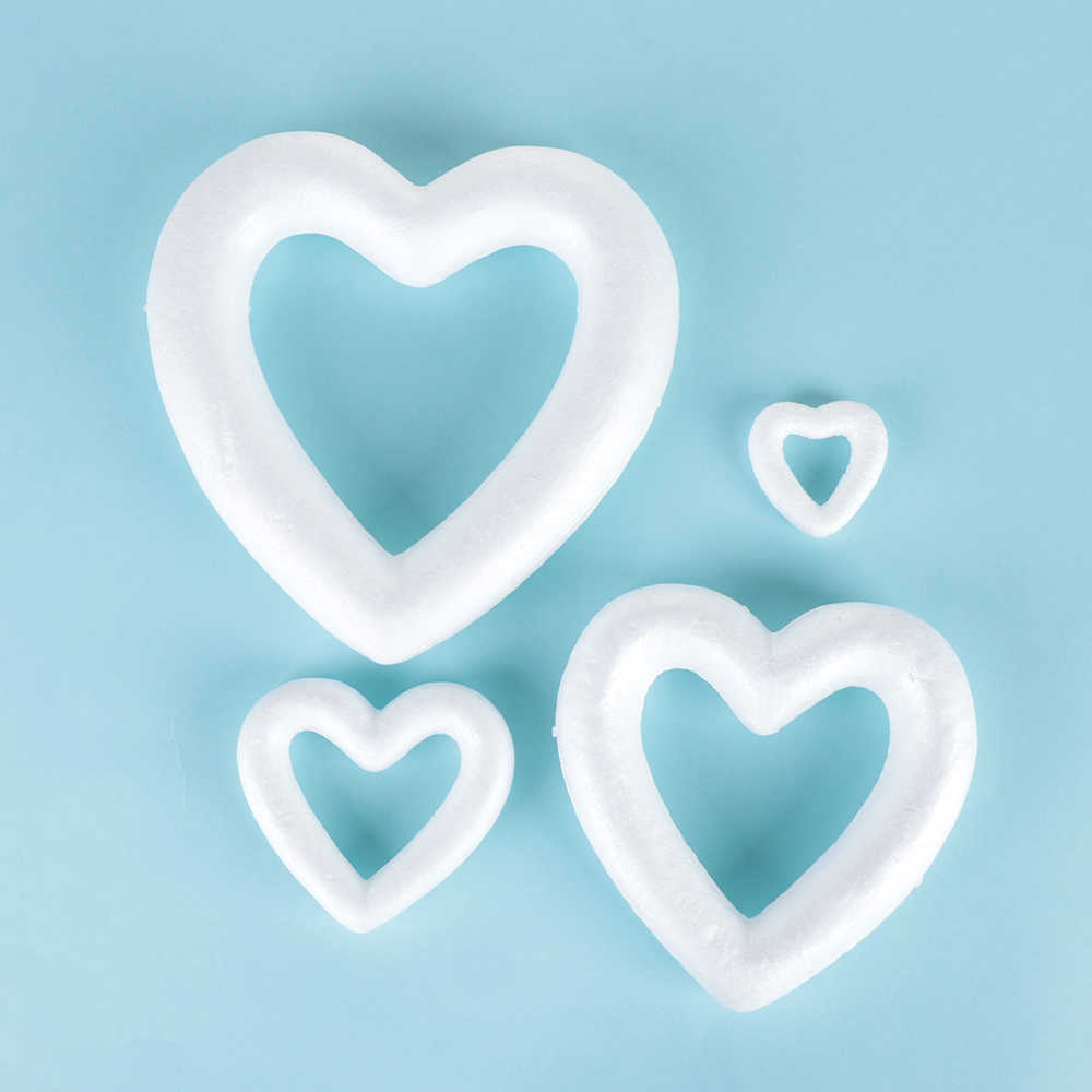 1 Adet Kopuk Topu Beyaz Ici Bos Kalp Susleme El Sanatlari Kalp