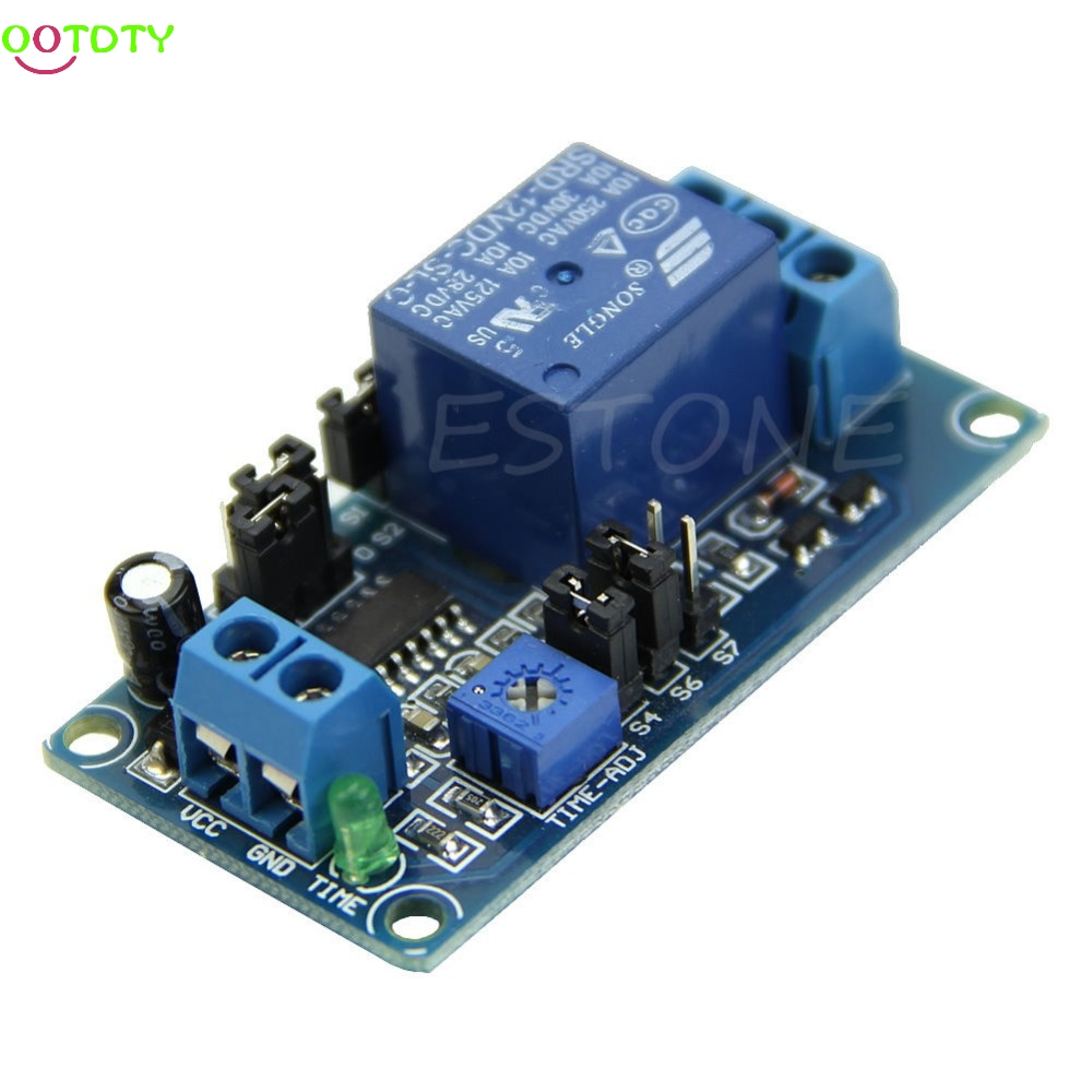 DC 12V Delay Relay Delay with Timer Turn on Delay Turn off Switch Module