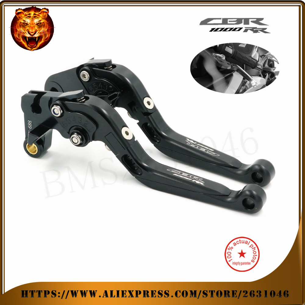 ФОТО For HONDA  CBR1000RR 2008-2016 09 10 11 12 13 14 15  Black Red CNC Motorcycle Adjustable Folding Extendable Brake Clutch Lever
