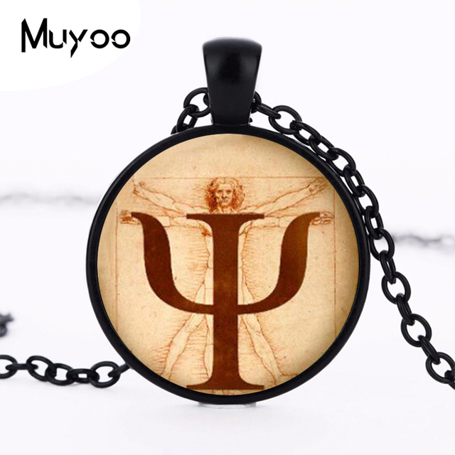 Psi Symbol Necklace Psychology Pendant Jewelrygift For
