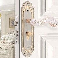 Vintage style Aluminum alloy brushed Door Lock hotel door lock key lock Mechanical Mute security door knob locks