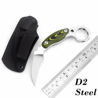 High Quality D2 Steel Karambit Knife Mikta Handle Camping Hunting Knives Outdoor Survival Tactical Knife Pocket