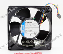 Free Shipping For ebmpapst  5214N/19HHI  DC 27V 13.5W 4-wire 4-pin connector 80mm, 127x127x38mm Server Square fan