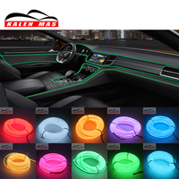 KALEN MAS Universal 10 Colors 5M Flexible Neon Light EL Wire Rope Tape Car Strip With