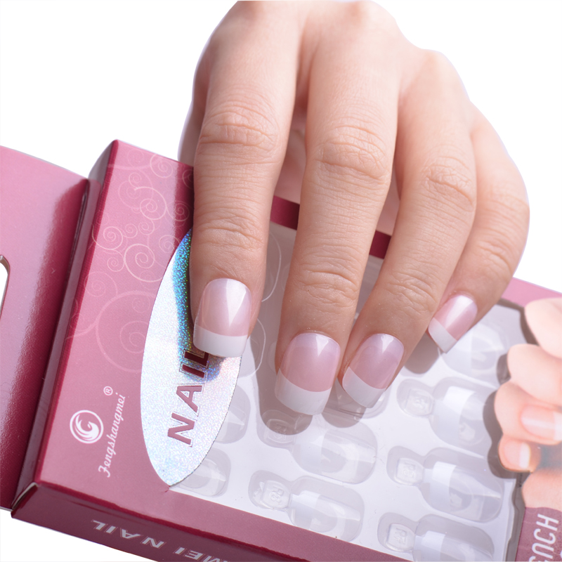 Fengshangmei Instant French Nail Tips Fake nails with Glue ...