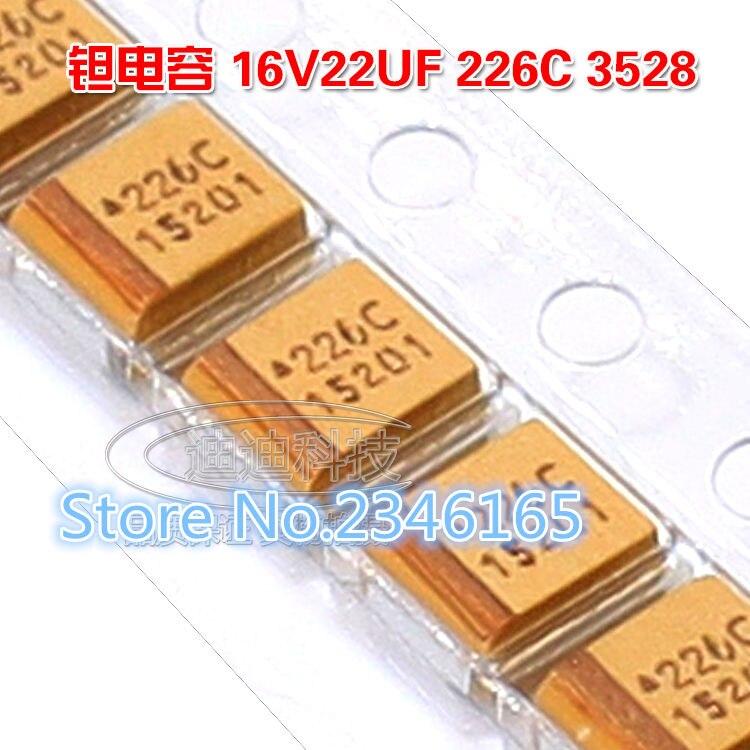 100 шт 22 мкФ/16 V SMT-B 3528-21 226C SMD 16 V 22 мкФ 3528