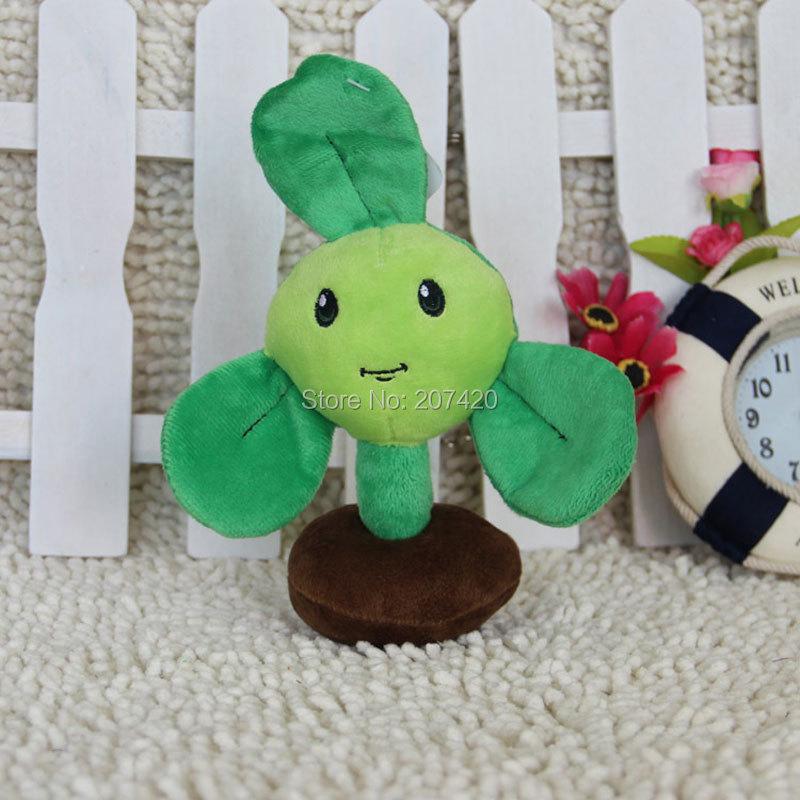 7.5inch Cute Plant Vs Zombies Series Plant Clover Trefoil Plush Toy Doll,1pcs/pack