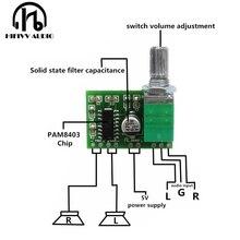 Hifivv аудио усилитель мощности плата 2.0CH 3 Вт DC5V вход