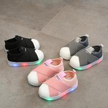 Children's Shoes With Light Princess Girls Glowing Sneakers