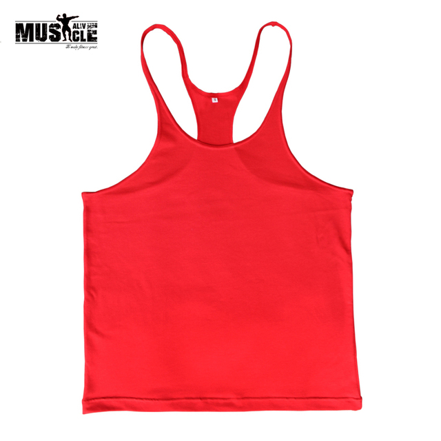 8af976be9cb6a4 Plain Bodybuilding Tank Top Fitness Men Blank Bodybuilding Stringer  Singlets Sleeveless Suit Casual Clothing Custom LOGO