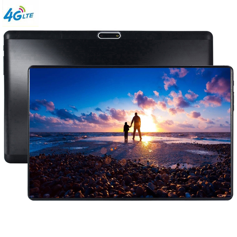 2.5D Multi-touch Glass Screen 10 Inch Octa Core 4G FDD LTE Tablet 6GB RAM 64GB ROM 1280 800 Dual Cameras Android 9.0 Tablet 10