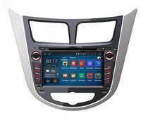 NEW 1.6Ghz CPU 1024*600 screen Car multimedia radio Player For Hyundai Verna Accent Solaris Android 5.1.1 Quad core car GPS DVD