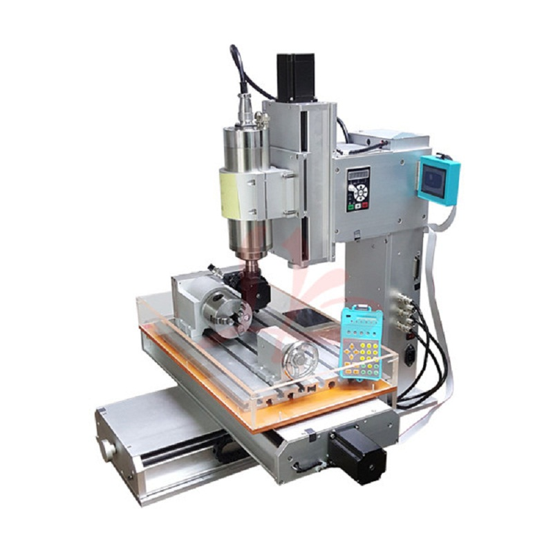 4 axis pillar type mini cnc machine 3040 Ball Screw Table Column Type metal engraving ma ...