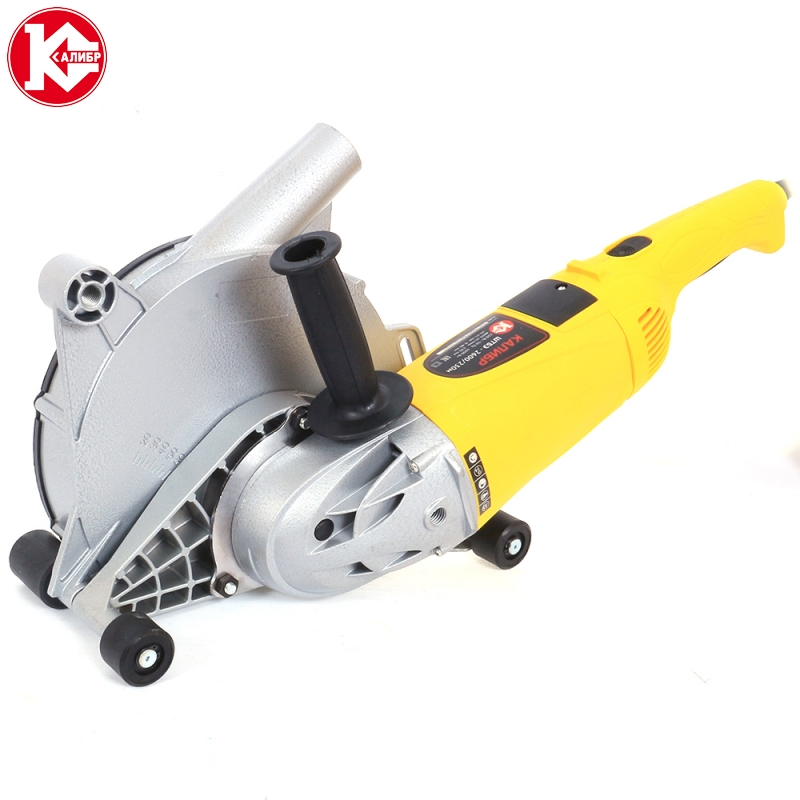 Wall chaser for cement groove cut Kalibr SHTBE-2600/230M, Power 2.6kW, Disk 2*230mm, Cutting Depth 20-65mm, Cutting Width 9-40mm talentool 25mm diamond cutting cut off blade wheel disc rotary tool for dremel with 2pcs mandrel
