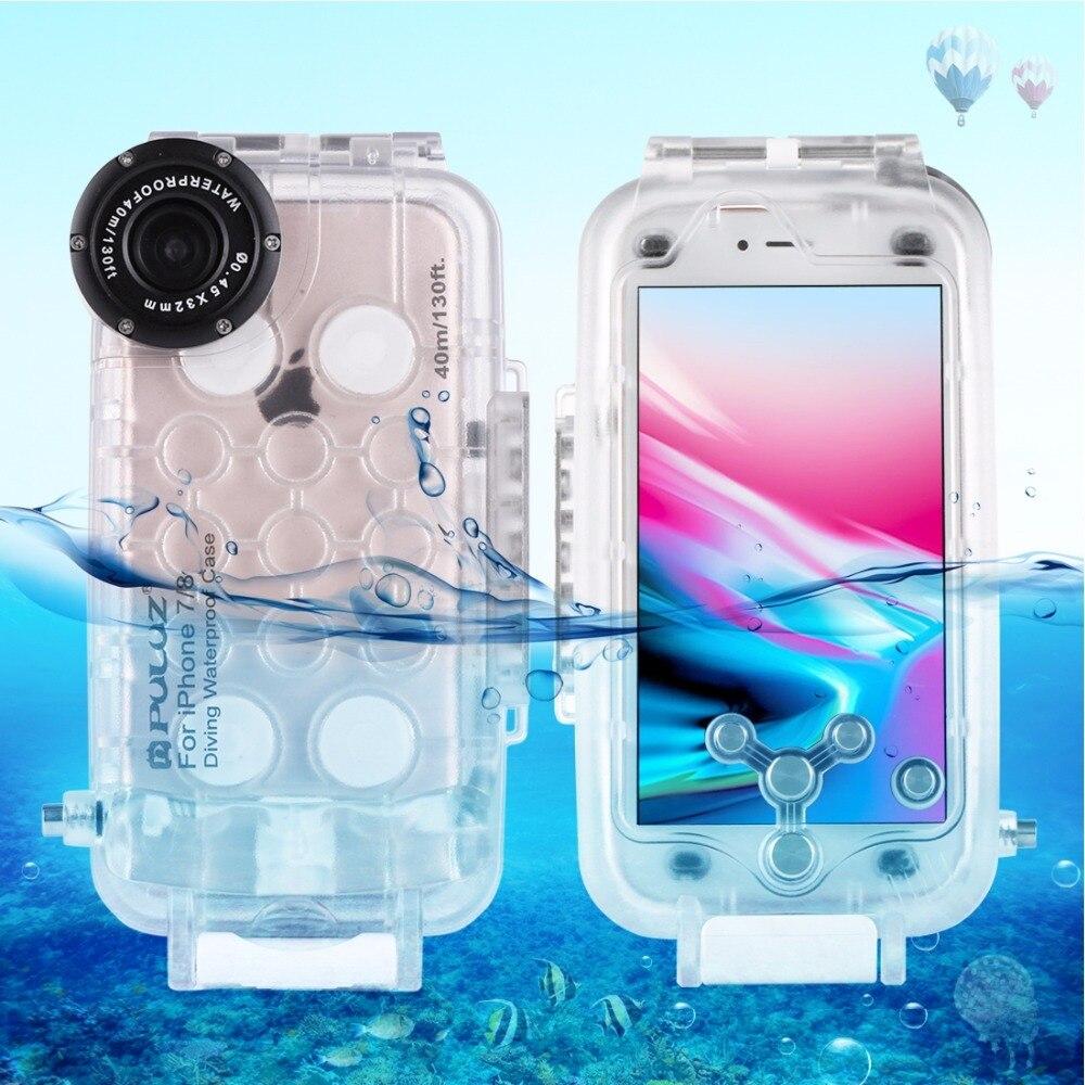 IPX8 40 M Plongée Sous-Marine Boîtier Étanche Couverture boîtier de protection Cage pour iPhone 7 7 plus 8 8 plus Smartphones