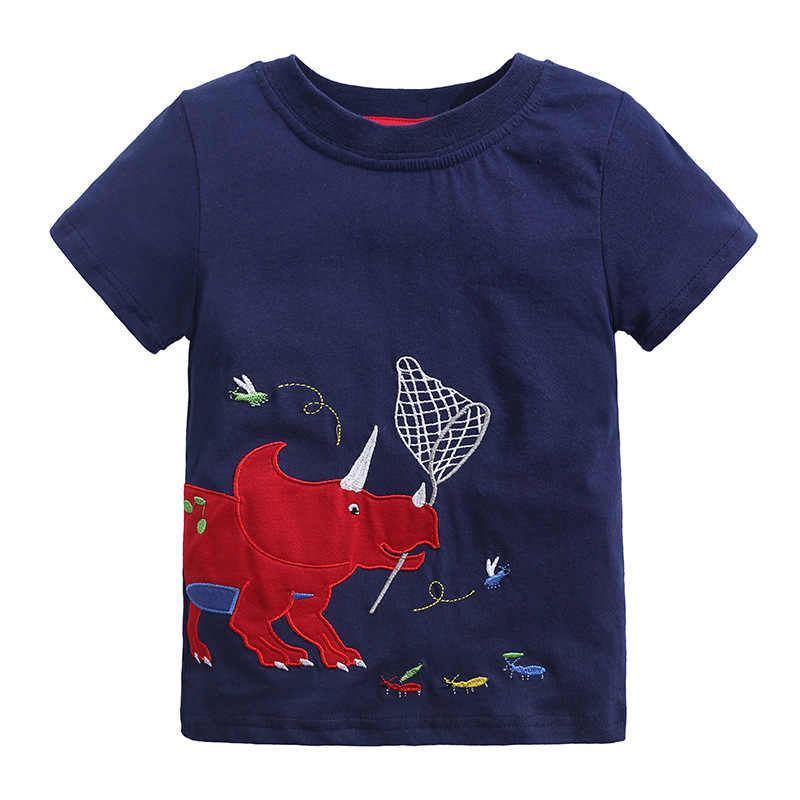 新しい夏新生児子供 Tシャツ服漫画車ティスブランドキッズ Tシャツボーイズ Tシャツ