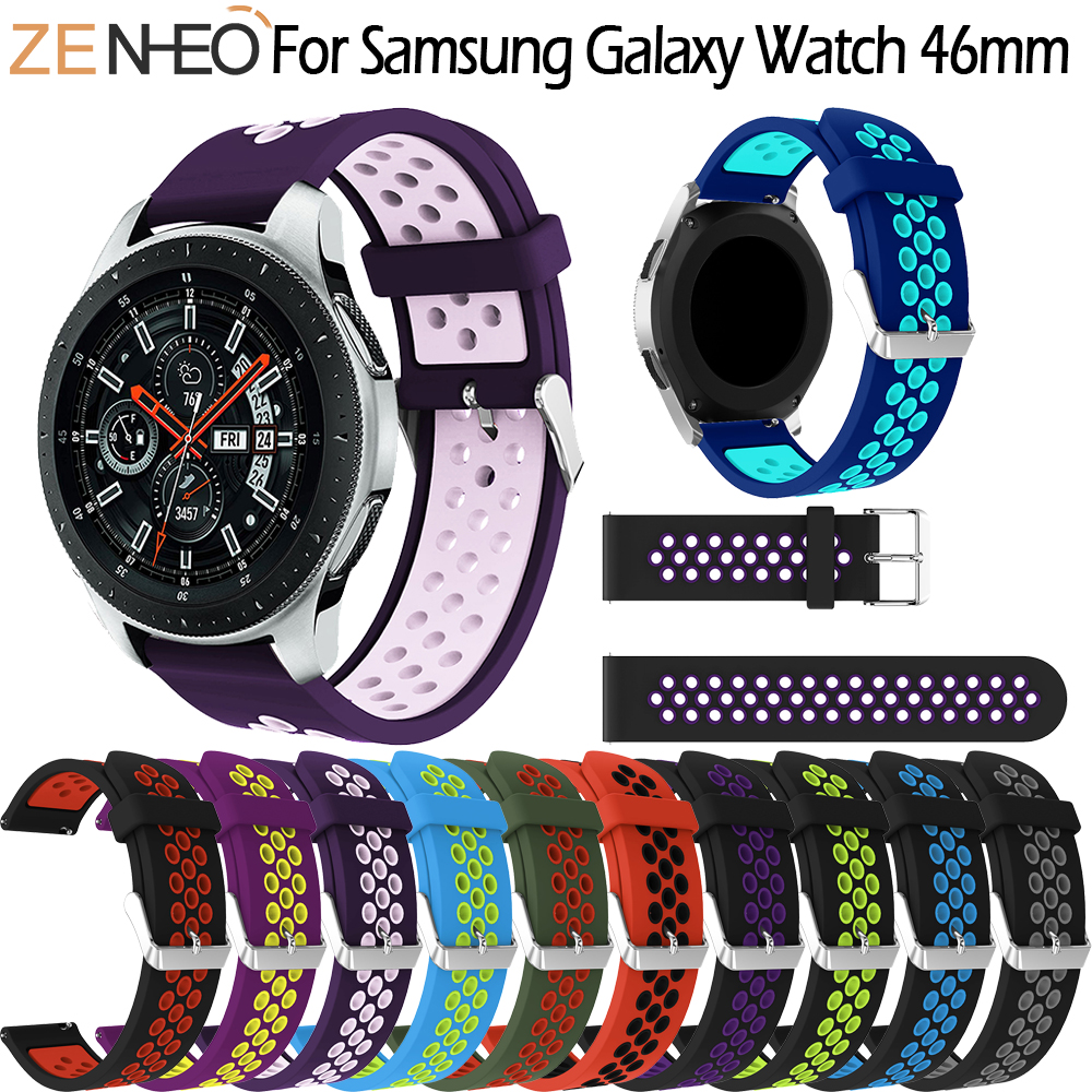 Sport Silicone Band For Samsung Gear S3 Frontier /Classic 22mm Watch Band Strap Replace Bracelet For Samsung Galaxy Watch 46mm Sport Silicone Band For Samsung Gear S3 Frontier /Classic 22mm Watch Band Strap Replace Bracelet For Samsung Galaxy Watch 46mm