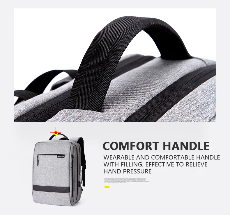 HTB1H0rmaEvrK1RjSszfq6xJNVXay - Mens Casual USB Charging Work Backpack Large Space Short Trip Male Waterproof