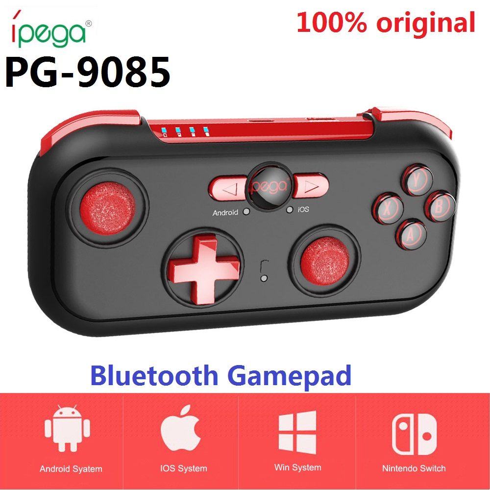 iPega PG-9085 PG 9085 Bluetooth Gamepad Joystick Pad Red Wizard Wireless Game Controller for Android/ iOS/ Nintendo/ Switch ipega ios gamepad pc bluetooth wireless smart phone switch controller with lcd screen mobile game pad joystick android pg 9063