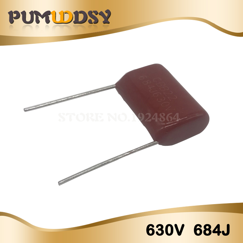 10PCS 630V684J 0.68UF Pitch 20MM 684 630V 680nf CBB Polypropylene Film Capacitor