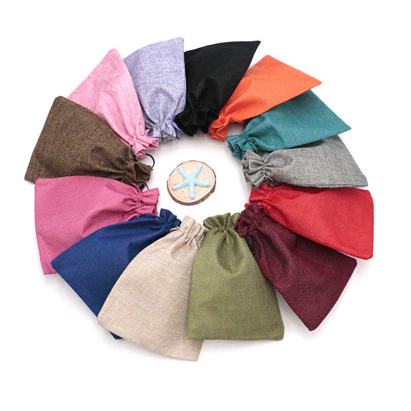 2020 Fashional 5 Pcs 15*20 Jewlery Display Jute Tassen Wedding Kerst Gift Bags Goedkope Mooie Kan Worden Aangepast
