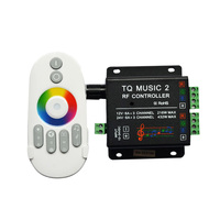 Touch RGB Controller DC 12V 24V 3channel 18A RF Wireless LED Controller Dimmer For LED Strip light tape
