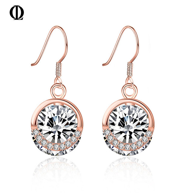 Earring of KJ SVE030 silver jewelry earring rose gold plated