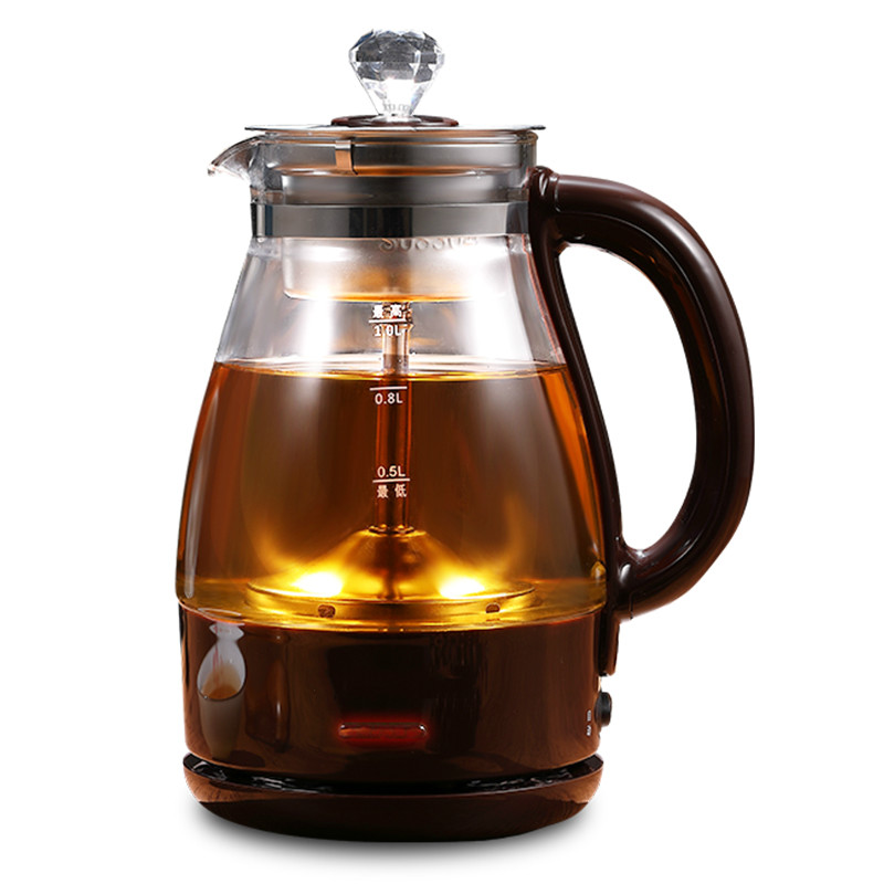 NEW Tea kettle steam thickened glass household multi-functional automatic small capacity black teapot brewing intelligent automatic kettle electric brewing tea stainless steel teapot