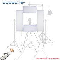 capsaver 4 in 1 Photography Lighting Kit Dimmable LED Studio Light 100W 5500K CRI95 with 2.4G Wireless Remote Control Panel Lamp