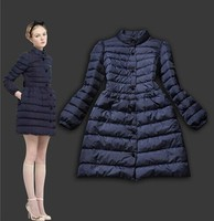 Winter Coat Women 2015 New Fashion White Duck Down Slim Long Blue Black Parka Warm Thick