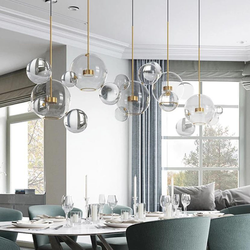 postmodern simplicity Creative personality pendant light Nordic living room restaurant bedroom bubble ball led pendant lamp modern circle tree branch led pendant light creative personality firefly dia 210cm nordic living room restaurant hall lobby lamp