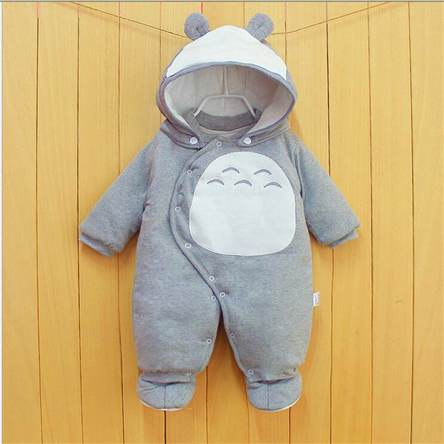 Baby jumpsuit baby clothes in winter with thick cotton clothes Baby jumpsuit out my neighbor totoro LM121