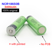 ФОТО 18650 battery new original 18650 3.7 v 3400mah lithium rechargeable battery ncr18650b with pointed(no pcb) 18650 3400mah    ma9