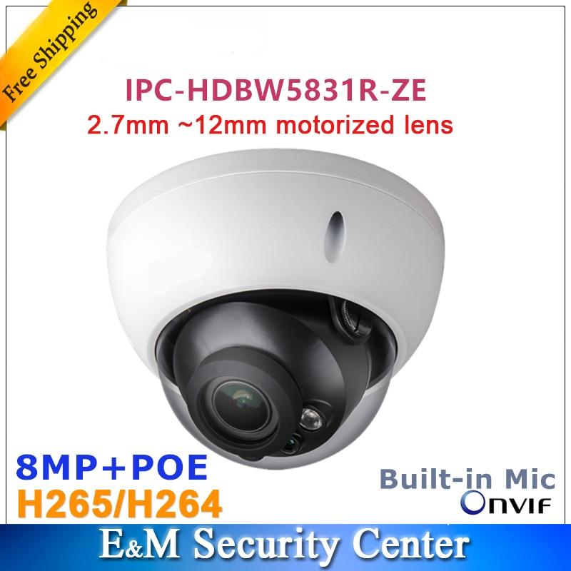 Original dahua 8MP dome IPC HDBW5831R ZE POE IR WDR Dome Network Camera IP67 IK10 2