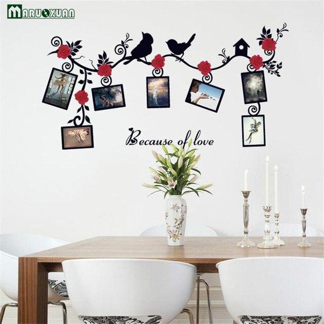 US $3.75 6% OFF Maruoxuan familienbilderrahmen fliegen schwarz vögel baum  wandaufkleber kunst home dekorationen wohnzimmer schlafzimmer vinyl ...