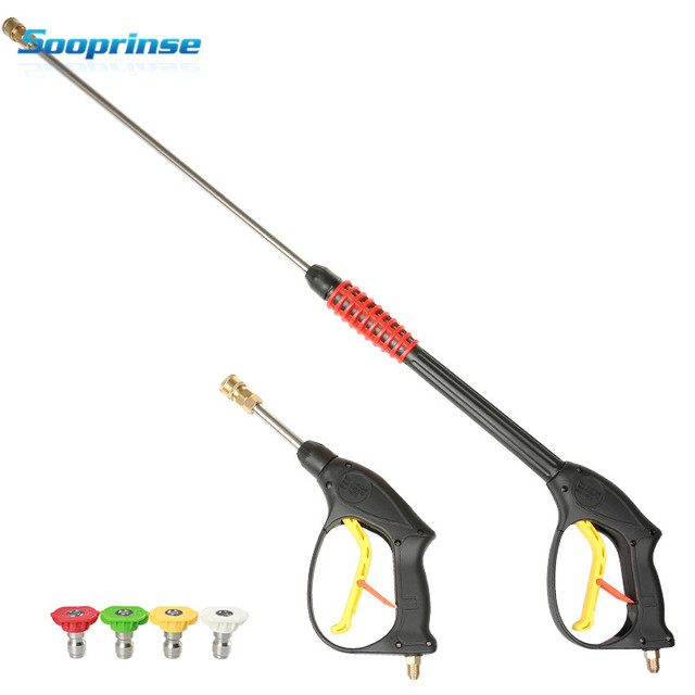 Sooprinse Replacement High Pressure Washer Car Wash Foam Gun Dust Wash Tool with 4 Foam Nozzles Max 3600 PSI 2020 NEW